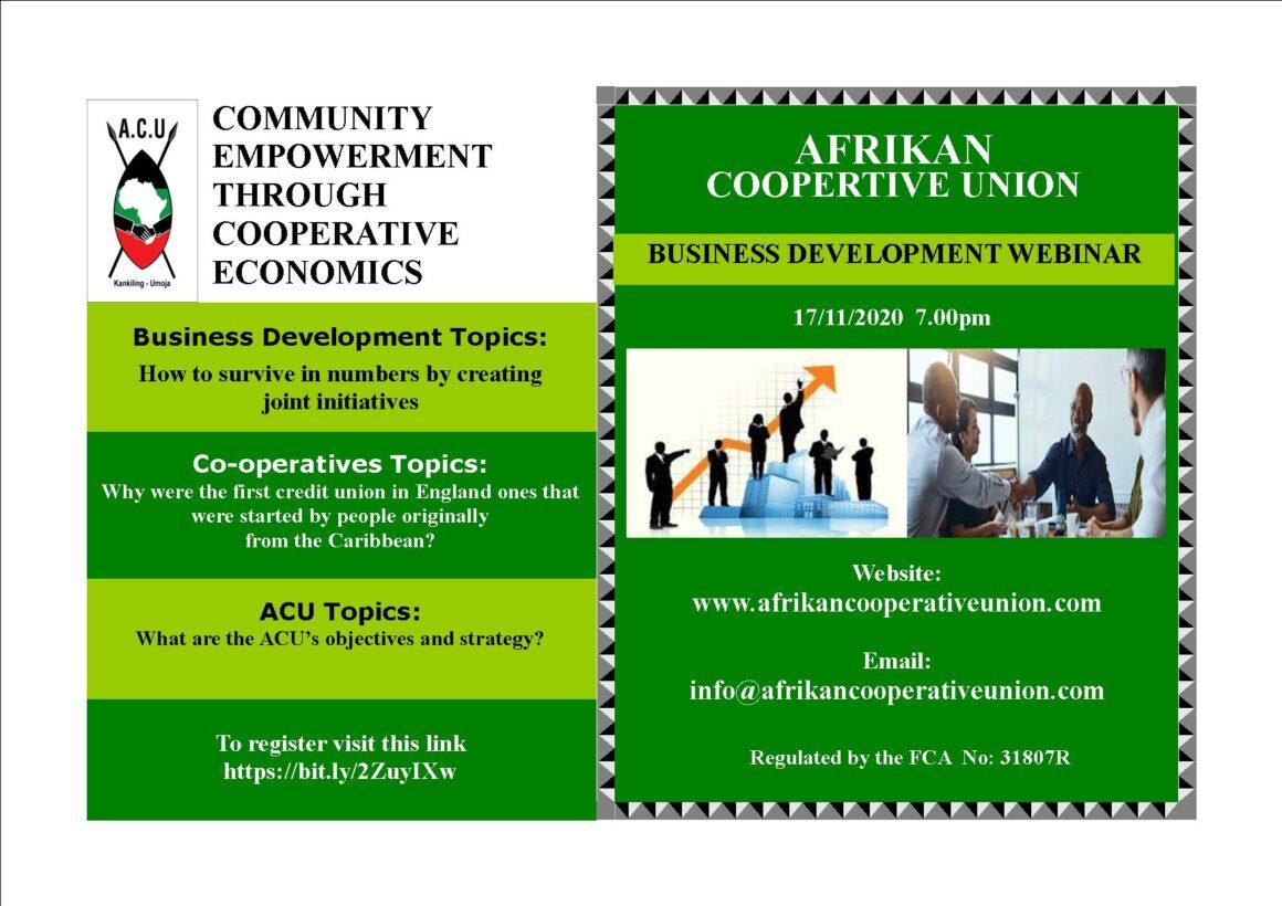 ACU Business Training Webinar – November
