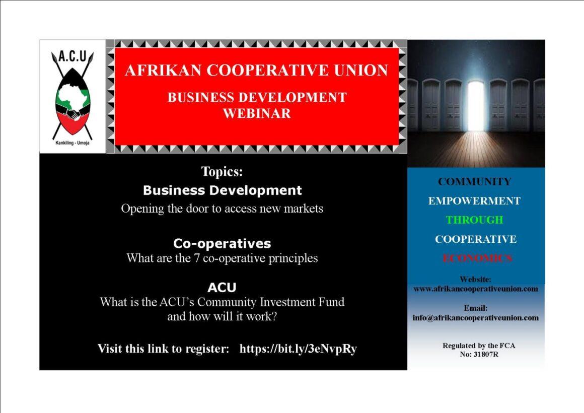 ACU Business Training Webinar – August